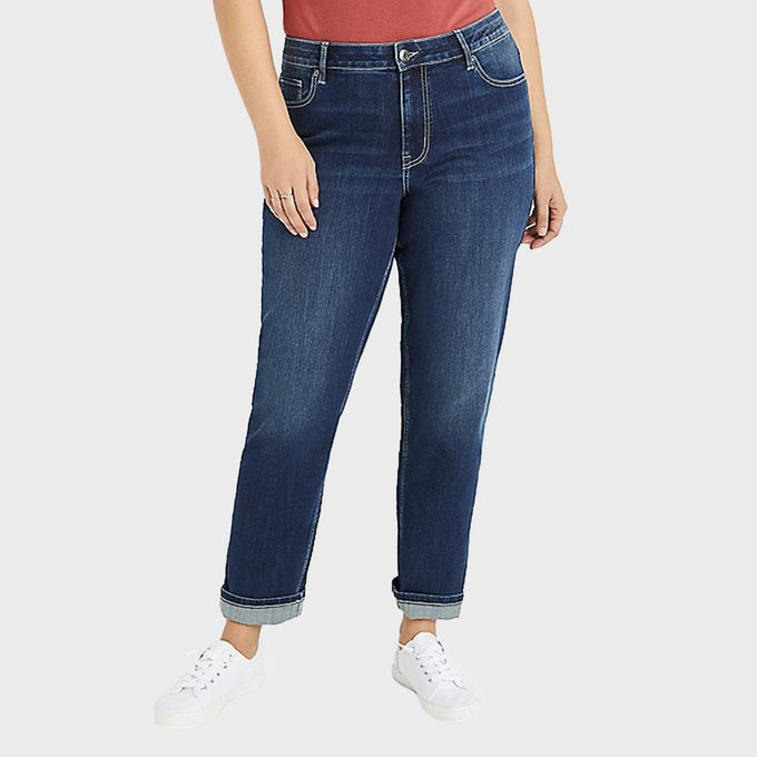 Plus Size M Jeans By Maurices Classic Straight Curvy High Rise Jeans