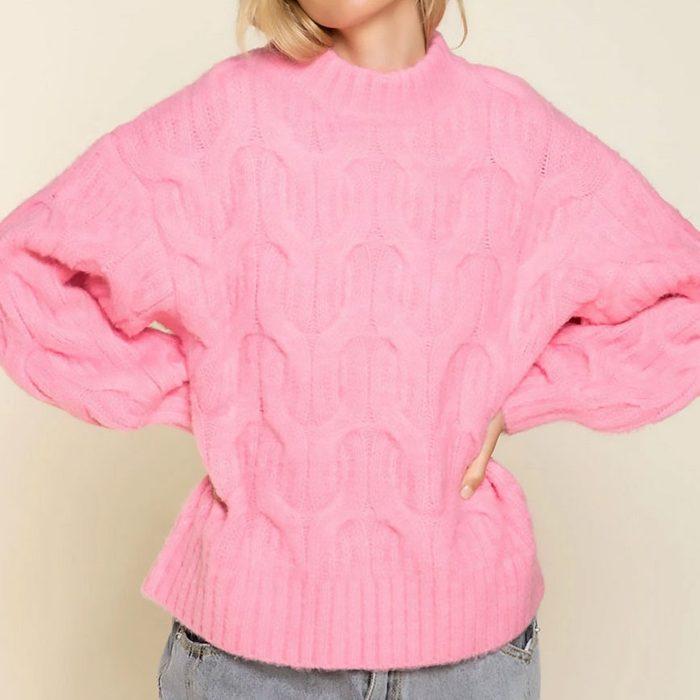 Pol Clothing Lulu Textured Boxy Sweater