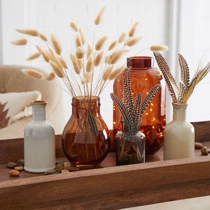 Rustic Lighted Vase Display