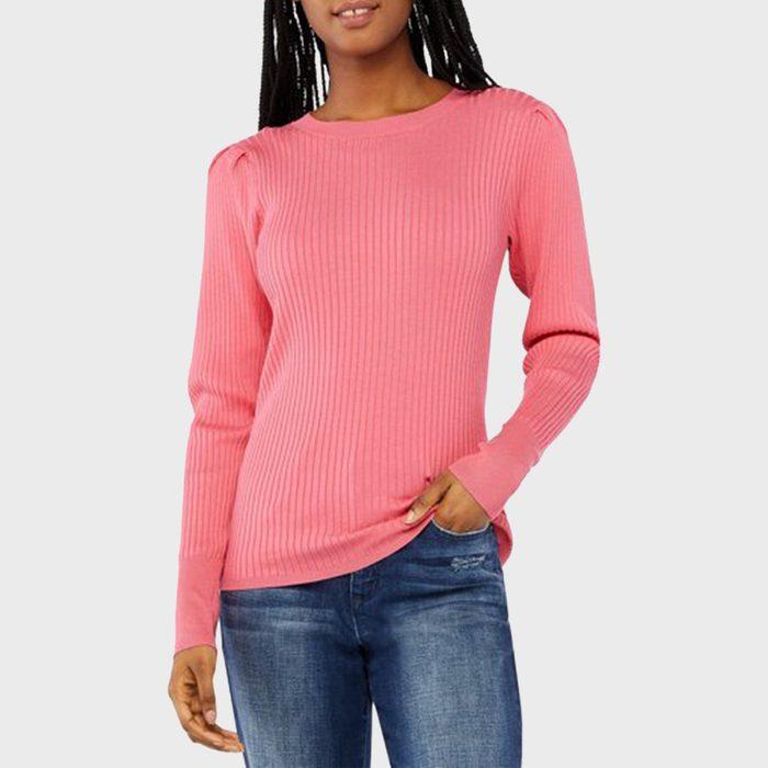 Scoop Rib Knit Sweater