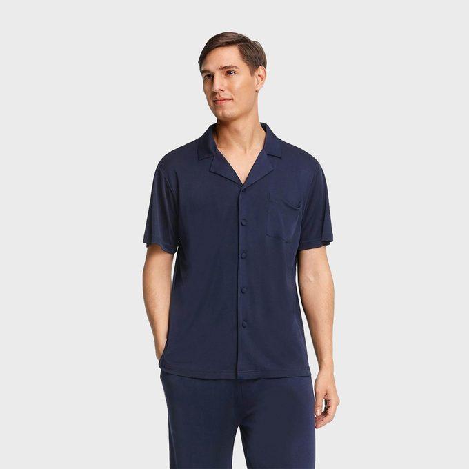 Short Sleeve Silk Knit Pajama Set From Lily Silk 3