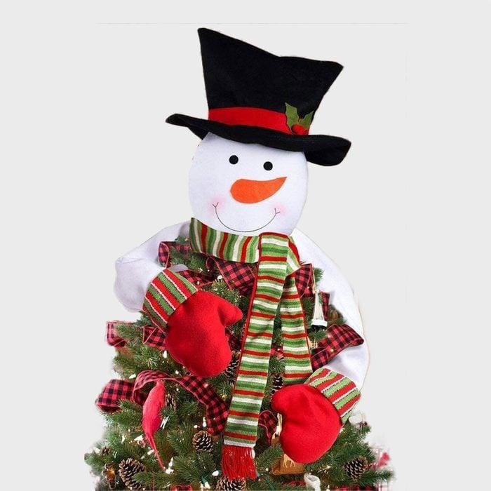 Snowman Christmas Tree Topper Via Amazon