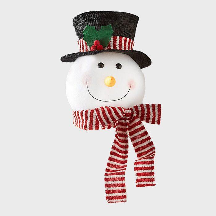 Snowman Head Christmas Tree Topper Via Etsy