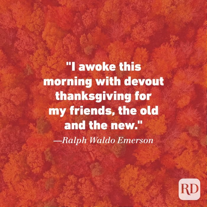 Thanksgiving Quote by Ralph Waldo Emerson