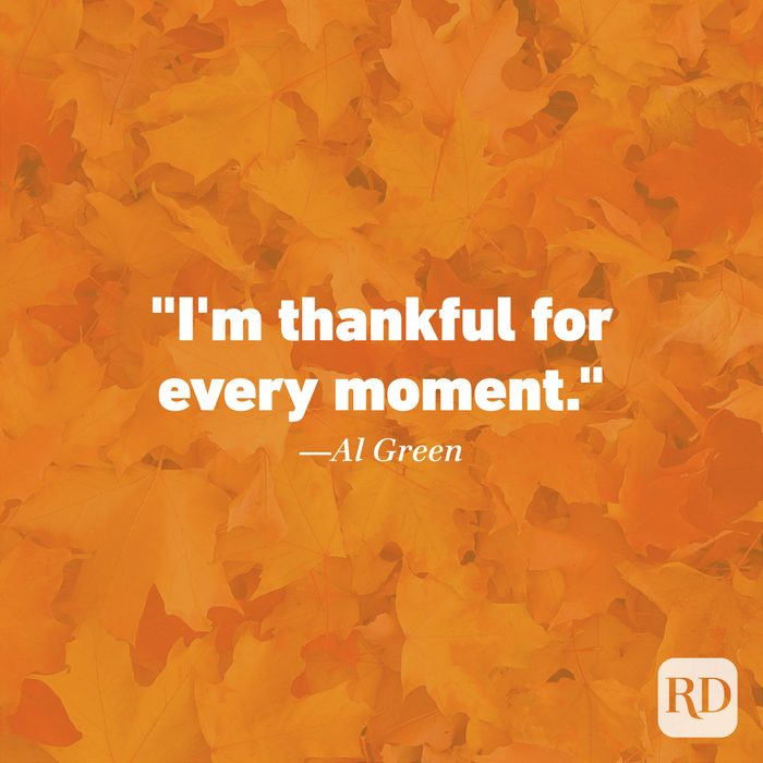 Thanksgiving Quote by Al Green
