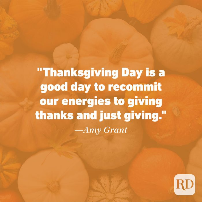 Thanksgiving Quote by Amy Grant