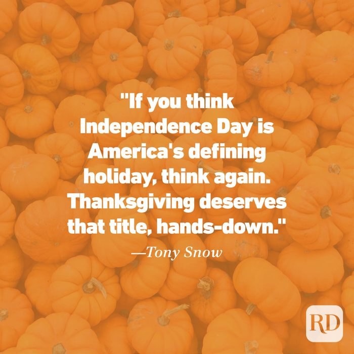 Thanksgiving Quote by Tony Snow