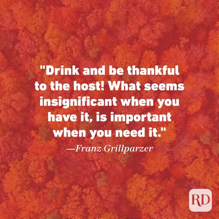 Thanksgiving Quote by Franz Grillparzer