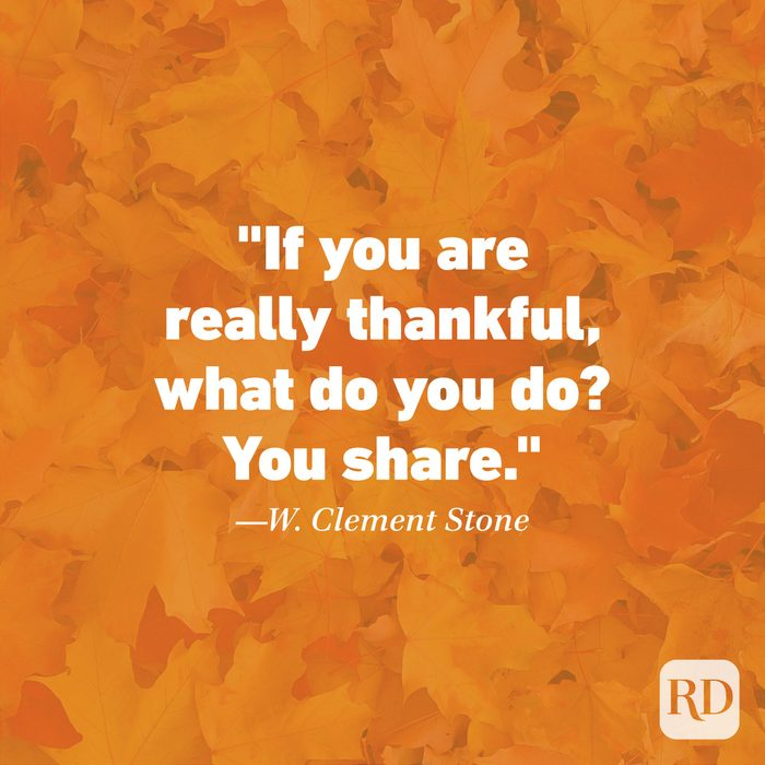 Thanksgiving Quote by W. Clement Stone