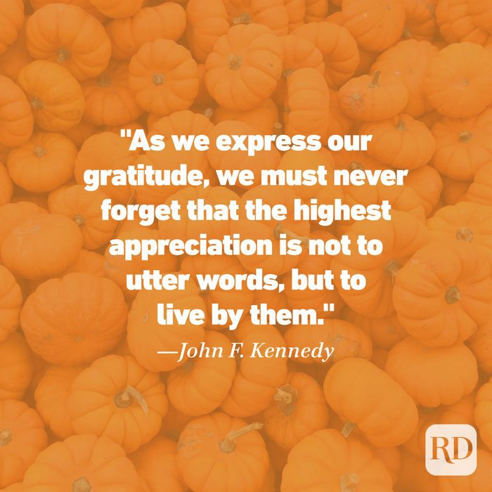 Thanksgiving Quote by John F. Kennedy
