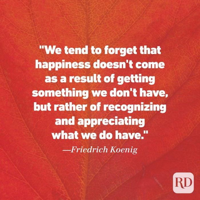 Thanksgiving Quote by Friedrich Koenig