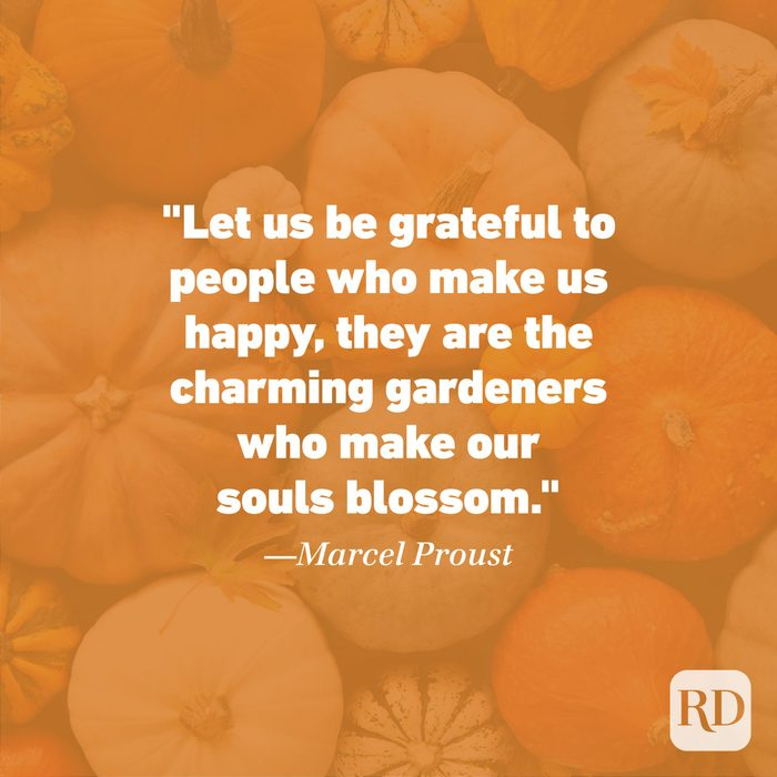 Thanksgiving Quote by Marcel Proust