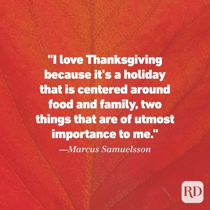 Thanksgiving Quote by Marcus Samuelsson