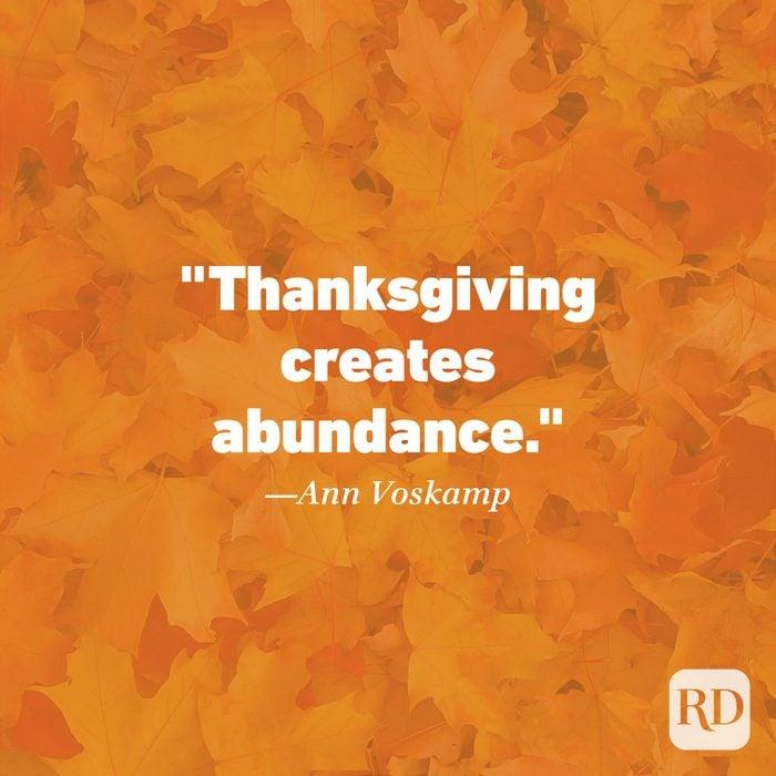 Thanksgiving Quote by Ann Voskamp