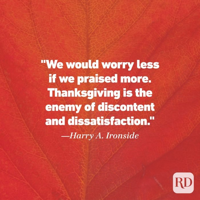 Thanksgiving Quote by Harry A. Ironside