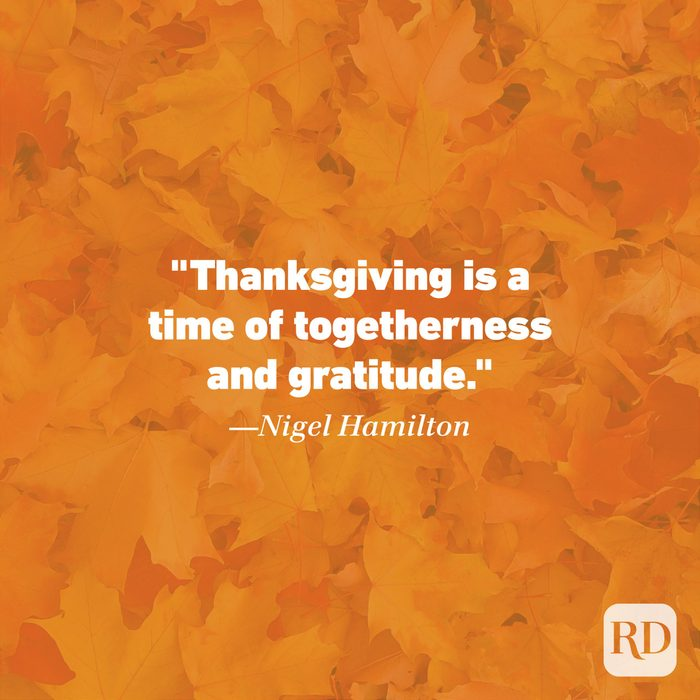 Thanksgiving Quote by Nigel Hamilton