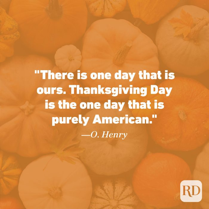 Thanksgiving Quote by O. Henry