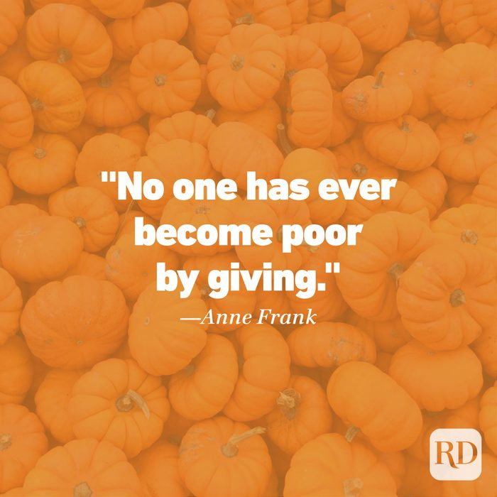 Thanksgiving Quote by Anne Frank