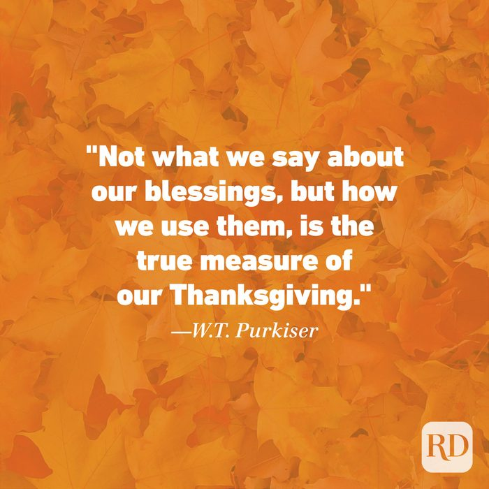 Thanksgiving Quote by W.T. Purkiser