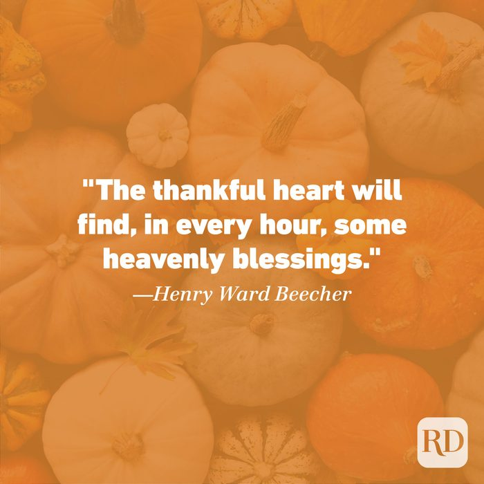 Thanksgiving Quote by Henry Ward Beecher
