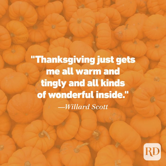 Thanksgiving Quote by Willard Scott