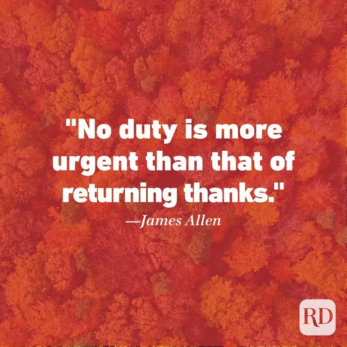 Thanksgiving Quote by James Allen