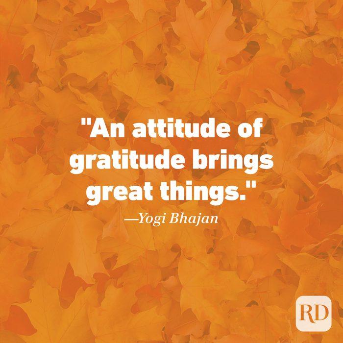 Thanksgiving Quote by Yogi Bhajan
