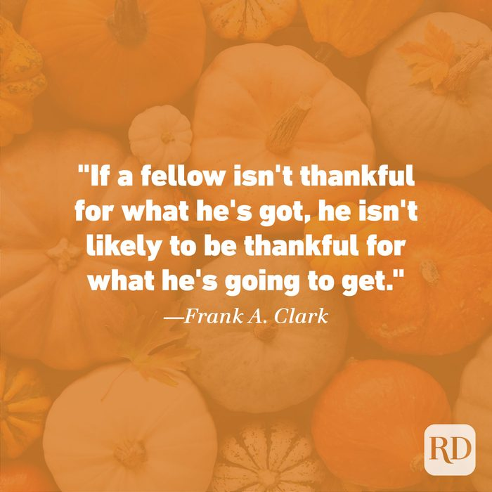 Thanksgiving Quote by Frank A. Clark