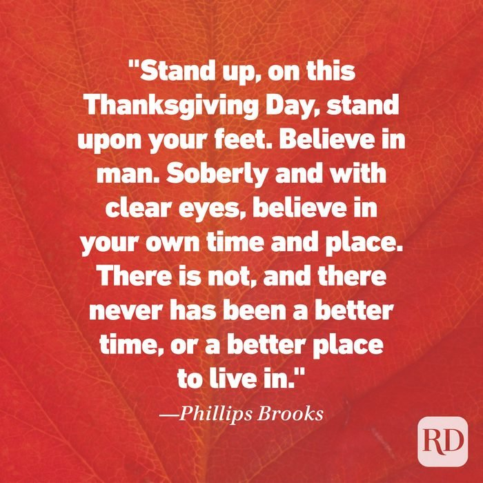 Thanksgiving Quote by Phillips Brooks
