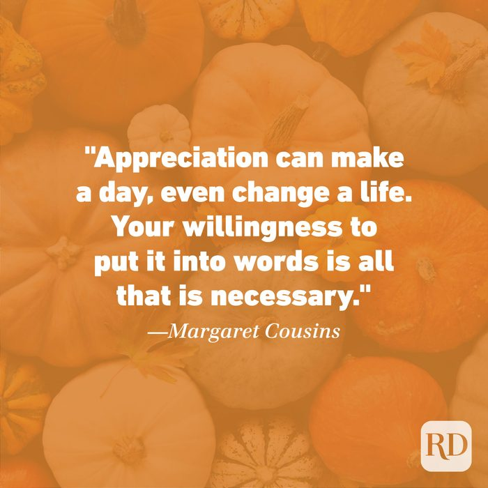 Thanksgiving Quote by Margaret Cousins