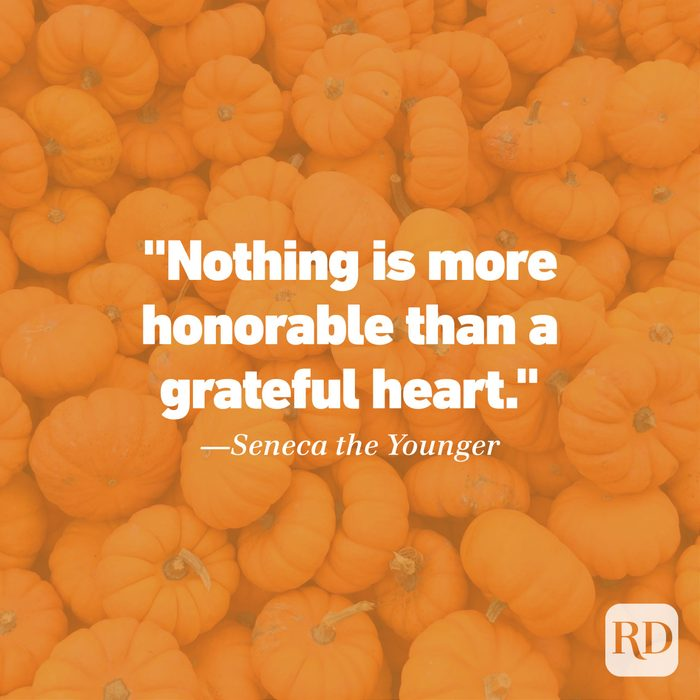 Thanksgiving Quote by Seneca the Younger