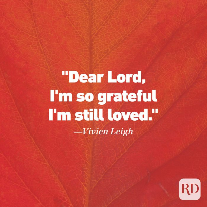 Thanksgiving Quote by Vivien Leigh