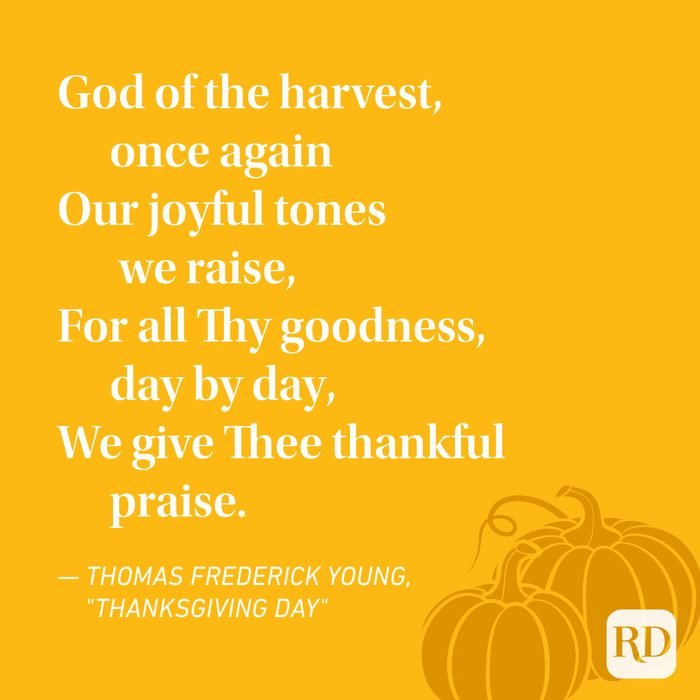Thomas Frederick Young Thanksgiving Poems