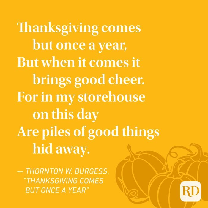 Thornton W. Burgess Thanksgiving Poems