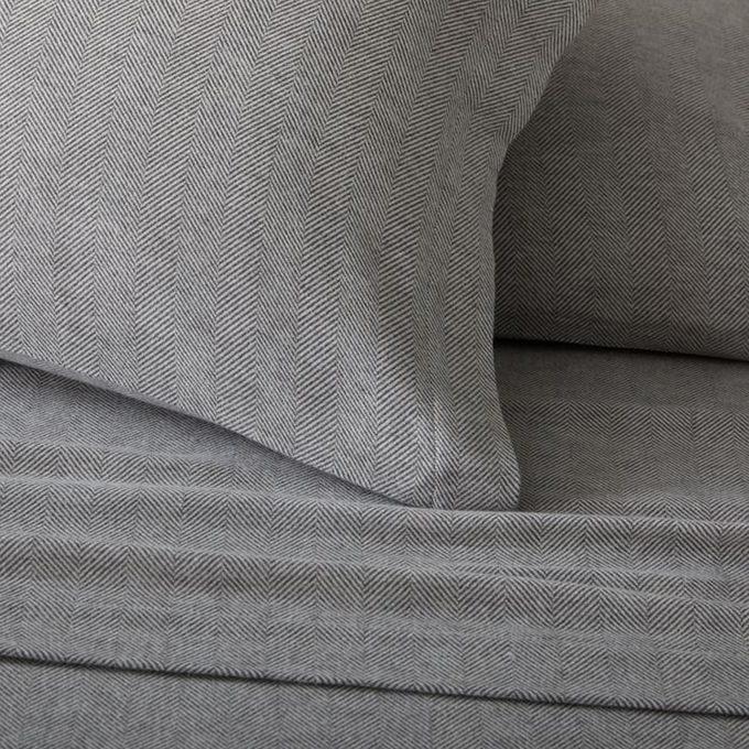 West Elm Herringbone Flannel Sheet Set