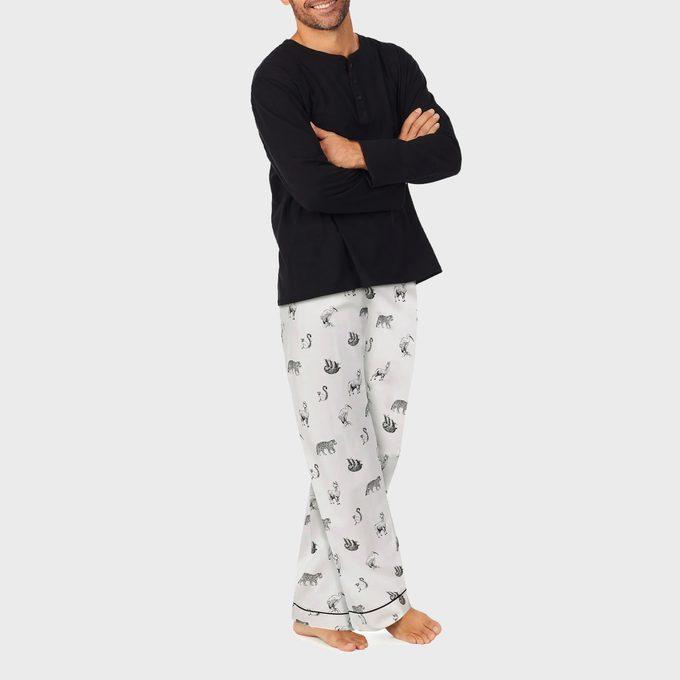 Wild Animals Henley Pajamas
