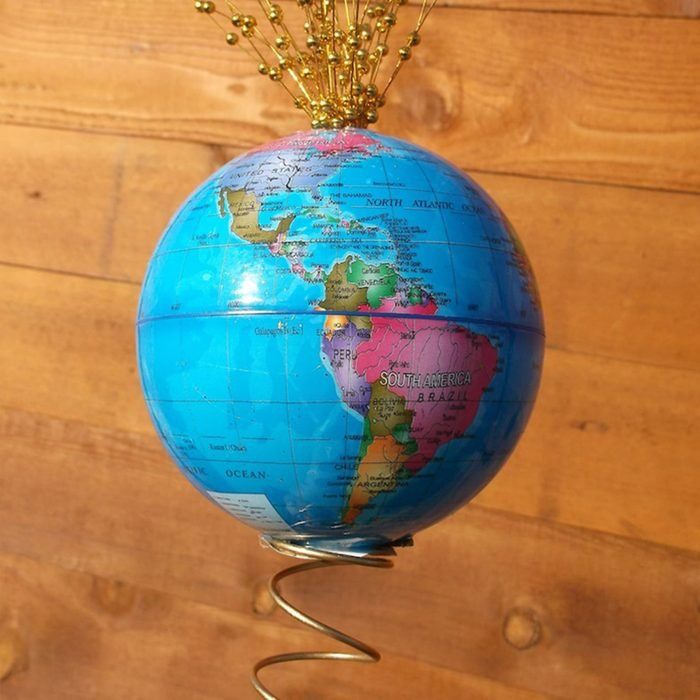 World Globe Christmas Tree Topper Via Etsy