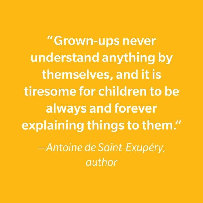 Antoine De Saint Exupéry Inspiring Kids' Quotes