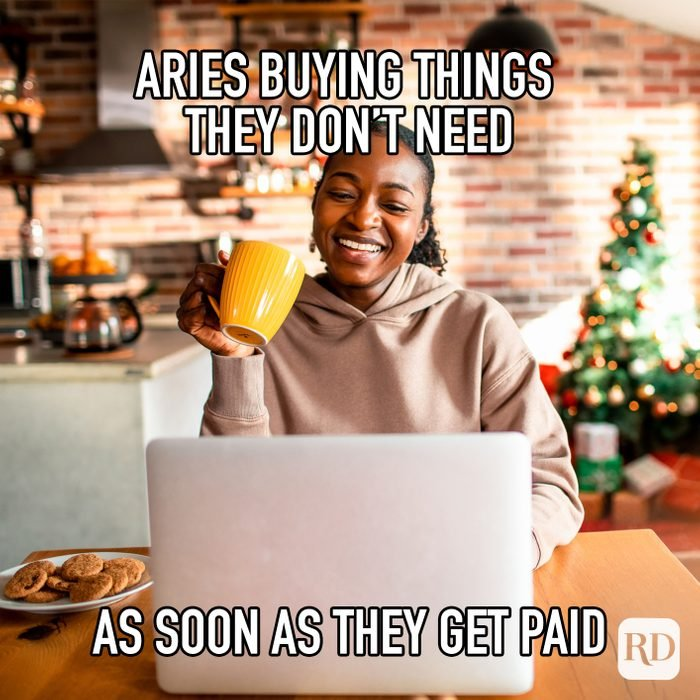 Aried Buying Things They Dont Need As Soon As They Get Paid meme text