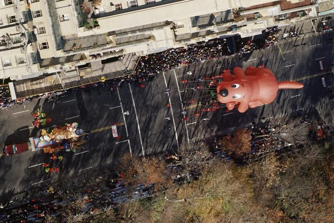 Clifford the Big Red Dog in Macy's Thanksgiving Day Parade