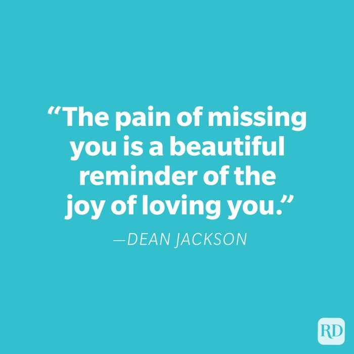 Dean Jackson Miss You Quote