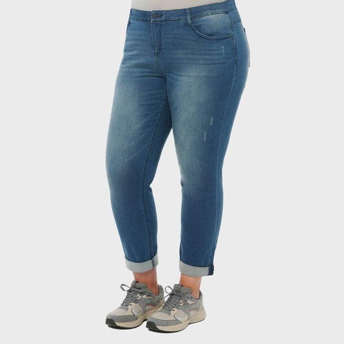 "Democracy ""Ab"" Solution Blue Denim Girlfriend Plus Jeans"