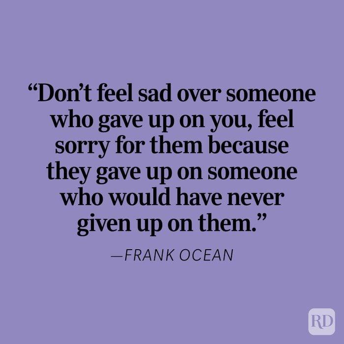Frank Ocean Heartbreak Quote