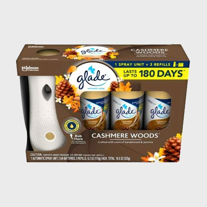 Glade Cashmere Woods Automatic Spray Refill and Holder Kit