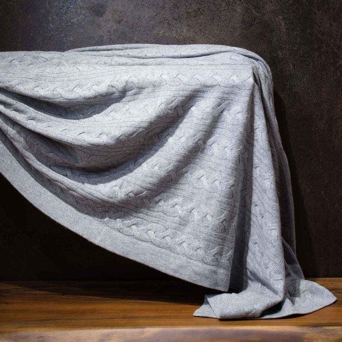 Gobi Cable Knit Blanket