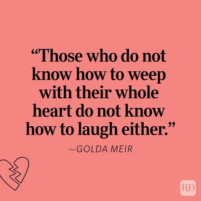 Golda Meir Heartbreak Quote