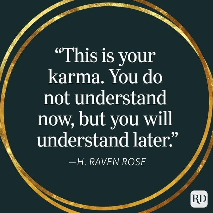 H Raven Rose Karma Quote