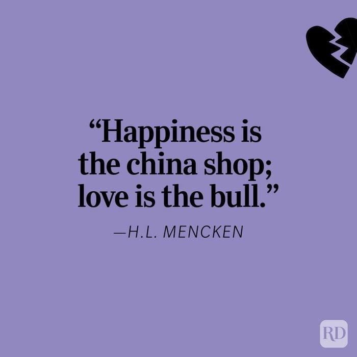 H.l. Mencken Heartbreak Quote