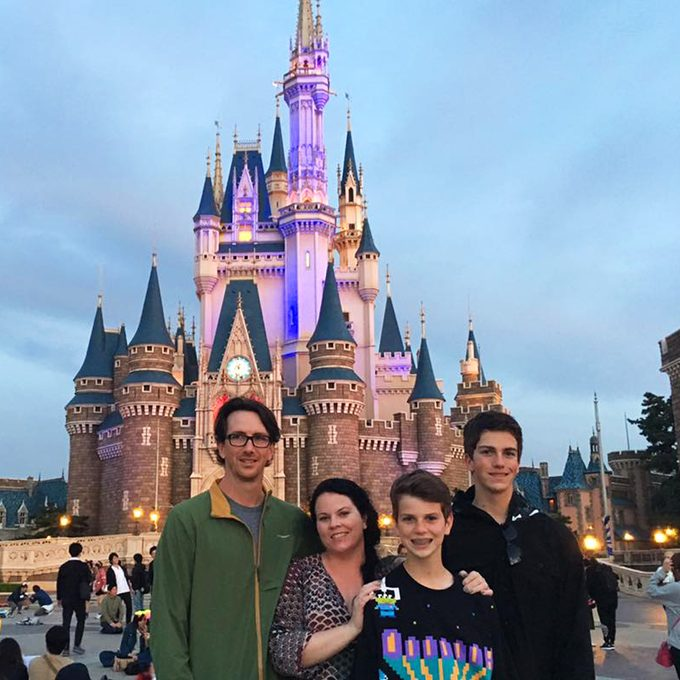 Heather Siever And Family At Tokyo Disney Resort