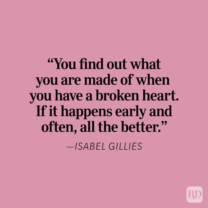 Isabel Gillies Heartbreak Quote